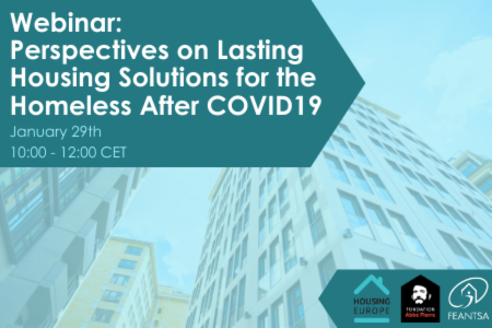 >Webinar: Perspectives on Lasting Housing Solutions for the Homeless after Covid19
