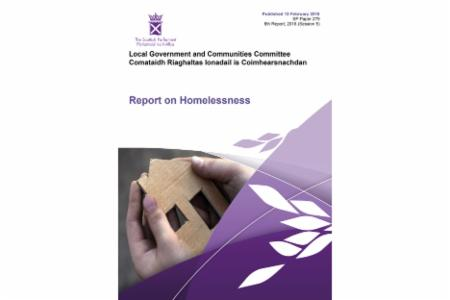 >Scottish Government Committee publishes report on future of homelessness policy