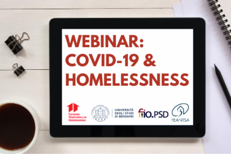 Webinar - Covid19 and homelessness