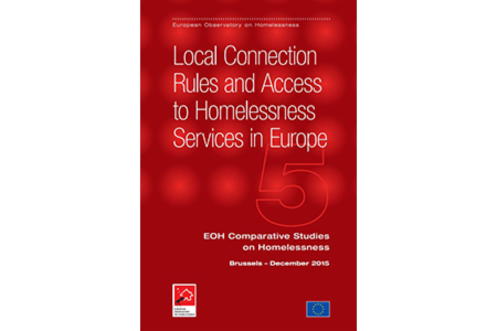>Comparative Studies on Homelessness: Number 5 - 2015